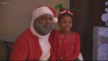 Black Santa makes appearance in N Portland