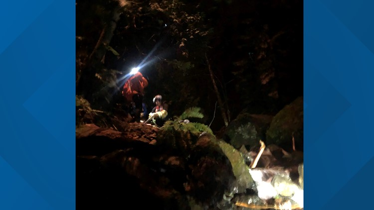 Rescuers save man from 50-foot fall near Columbia River Gorge trail