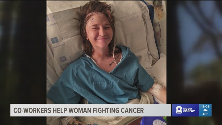 'It makes me feel loved': Co-workers help Portland woman fight stage 4 cancer