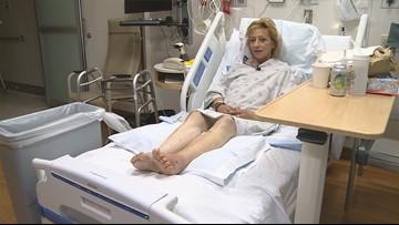 Homeless woman hit while sleeping in tent battling injuries, nightmares