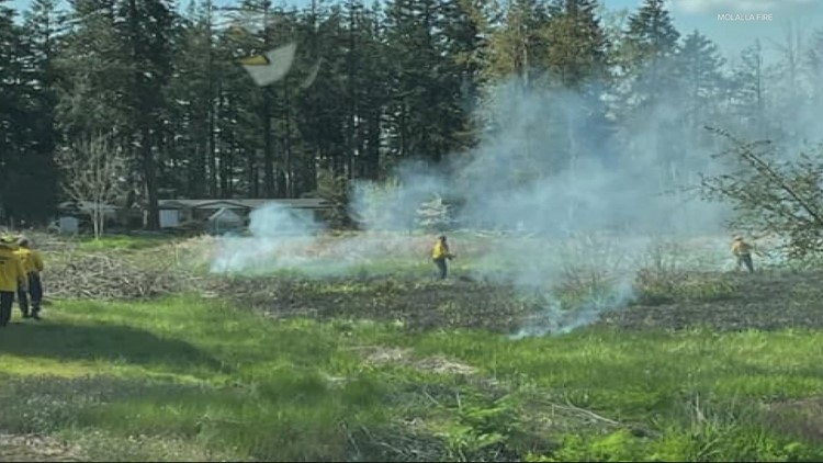 'It happens earlier every year': Oregon crews respond to multiple brush fires