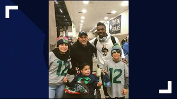 Seahawks player's cleats honor Washington boy with rare disorder