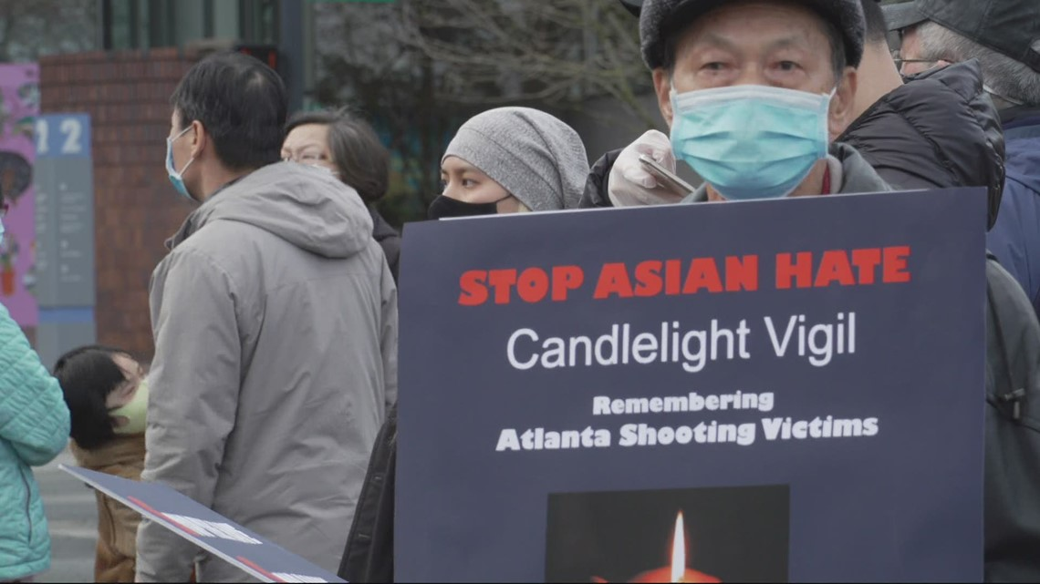 Hundreds gather in Portland to speak out against anti-Asian hate