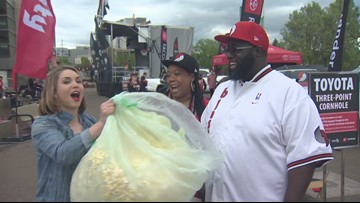 Sharing game day snacks with Blazers fans