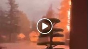 Watch: Lightning strike in Gresham caught on camera