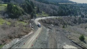 Highway 101 near Brookings partially reopens
