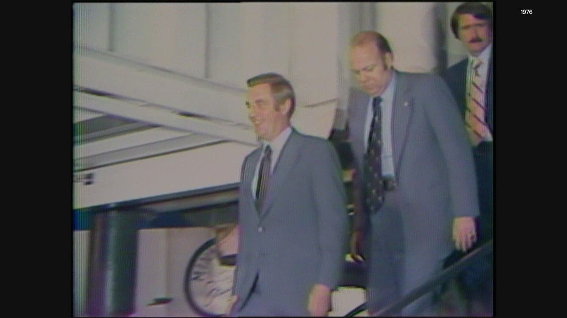 KGW Vault: Walter Mondale campaigns in Portland in 1976