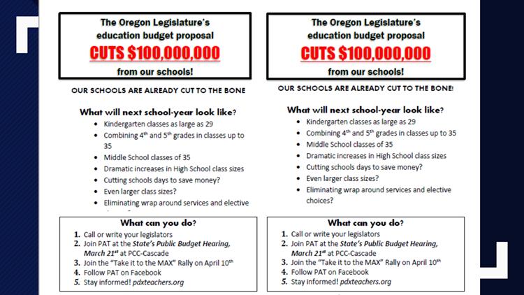 Oregon Education Association flyer