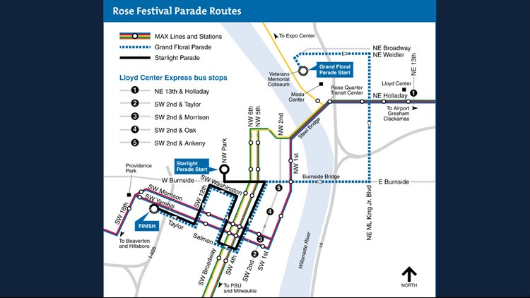 Rose Festival 2019 parade routes