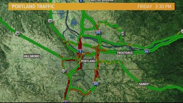 Closures lead to traffic mess in Portland metro area