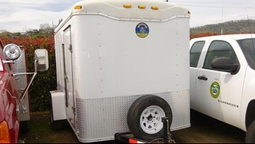 Trailer with equipment for fighting Milepost 97 Fire stolen