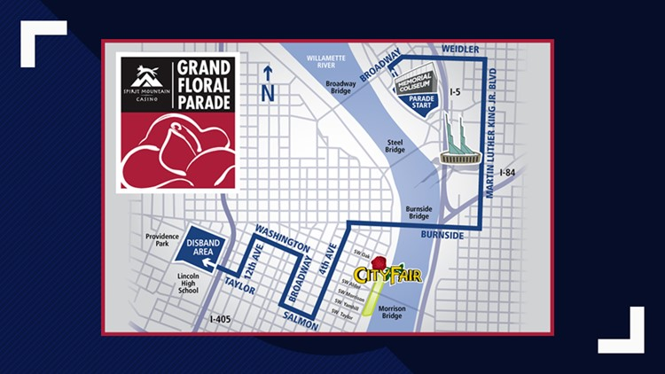 Parade route for 2019 Grand Floral Parade