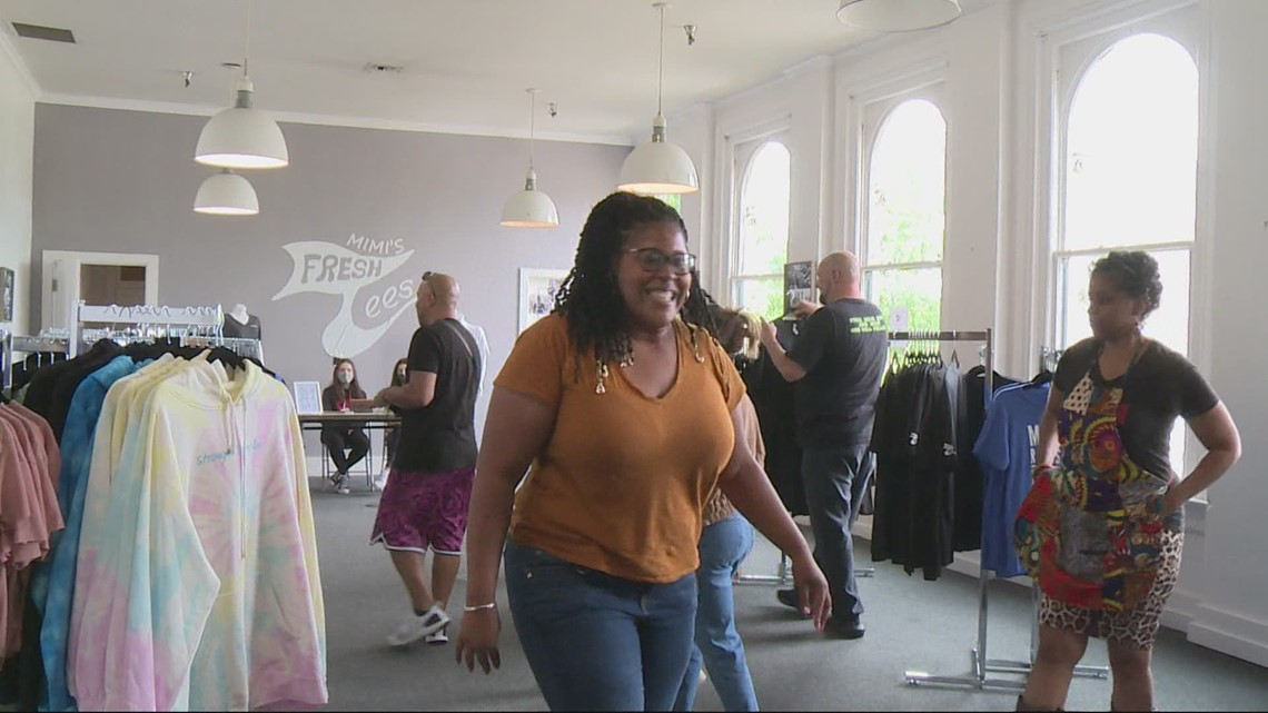 Triumph after a challenging year: Mimi's Fresh Tees opens brick and mortar store