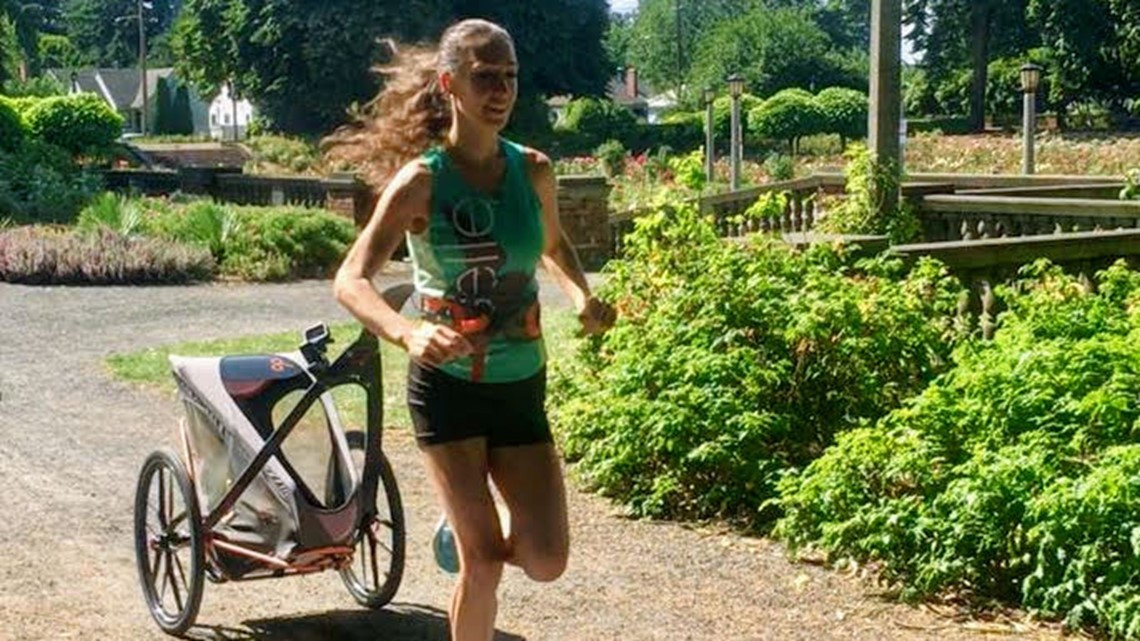 Running with her baby helps Portland woman cope with postpartum depression