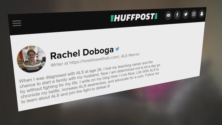 Rachel's byline on the Huffington Post