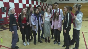Lincoln High students spread the Valentine's Day love