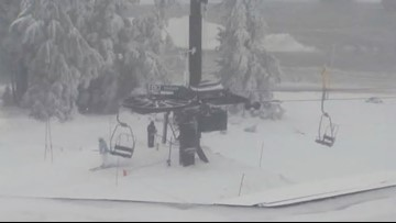 After heavy snowfall, Timberline opens slopes for one day of skiing and snowboarding