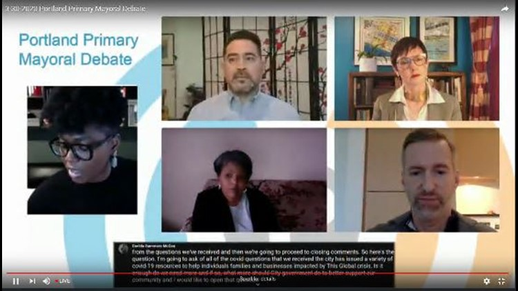 Watch: Virtual debate for Portland mayor