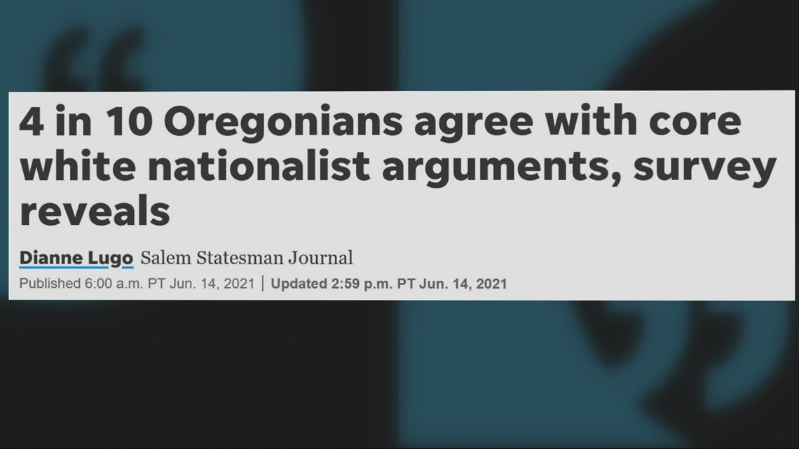 40% of Oregonians believe that white European heritage must be protected, survey finds
