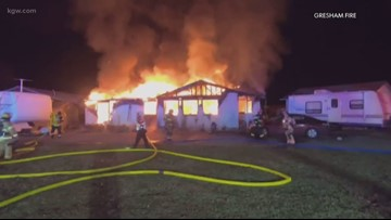 Woman dies, son burned trying to save her in Boring house fire