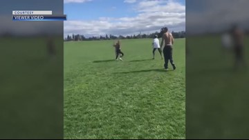Three adults arrested after video of two girls fighting in Bend goes viral