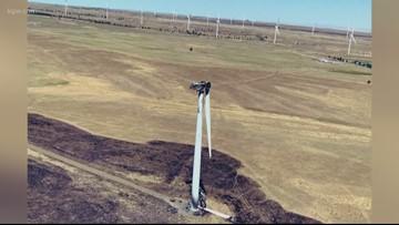 Juniper fire in central Washington started by wind turbine