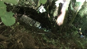 Woman rescued after driving SUV off cliff near Estacada; cited for DUII