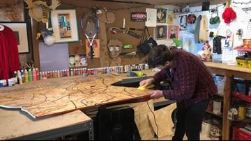 Portland Artist created wooden Zoidberg - timelapse