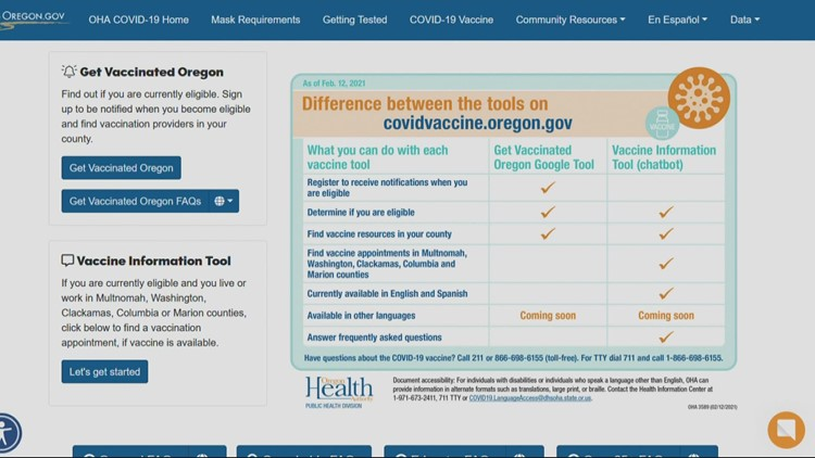 Legacy Health apologizes for COVID vaccine scheduling website problems