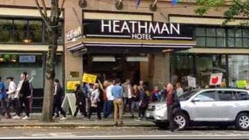 'Oregonians expect him to come clean:' Activists march, send message to Gordon Sondland