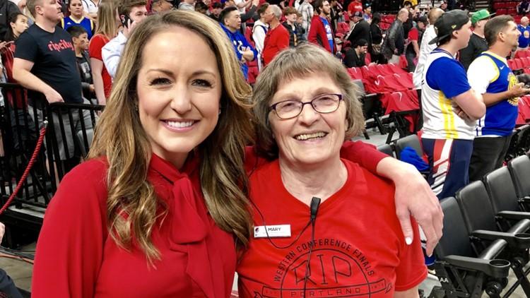 Mary Ricks with Brooke Olzendam