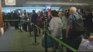 Spring Break travelers swarm Portland International Airport