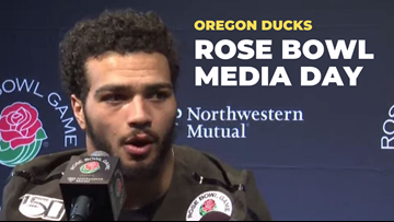 Oregon Ducks coaches and players speak to media before Rose Bowl (video)