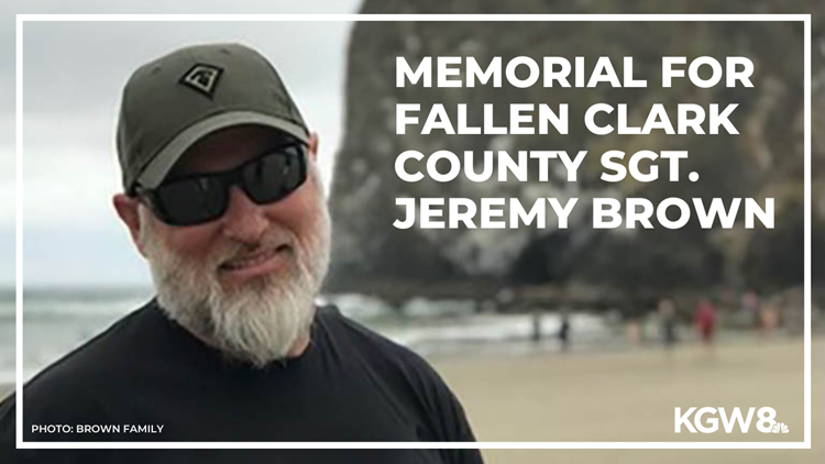 'My dad was a hero': Family, community honor fallen Clark County Sgt. Jeremy Brown during memorial service