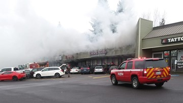 Fire destroys several businesses in Hazel Dell strip mall