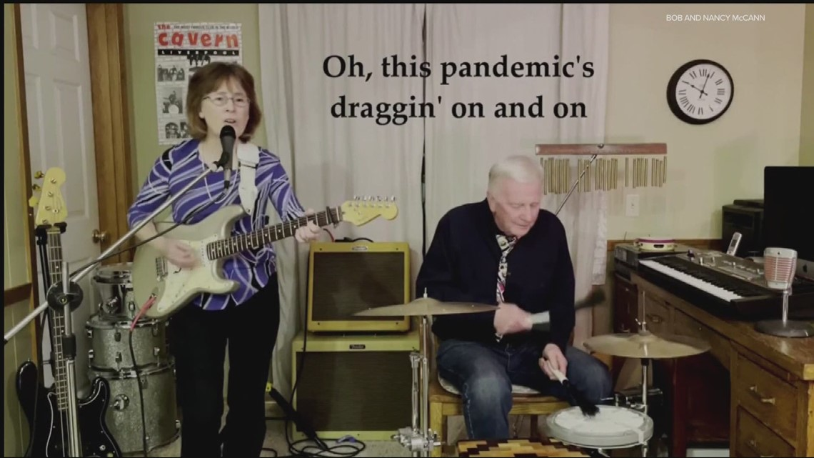 Retired couple performs pandemic-related cover songs