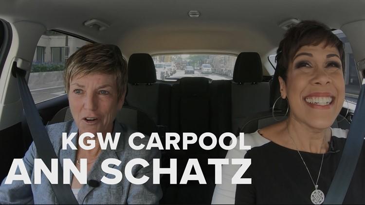 KGW Carpool: Portland's first female sportscaster, Ann Schatz