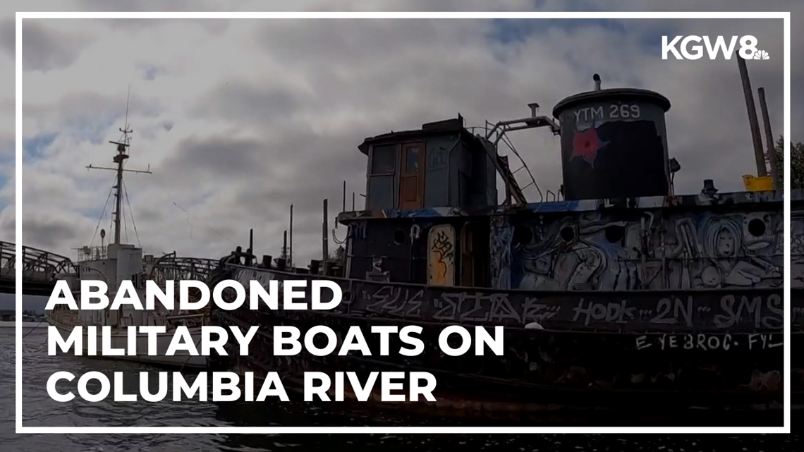 Oregon has no timeline for removing abandoned military vessels on Columbia River