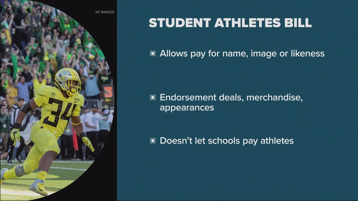 Oregon senate passes bill allowing college athletes to get paid