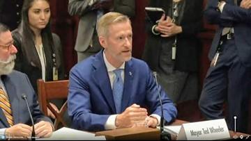 Mayor Wheeler addresses U.S. Senate committee on climate change (video)