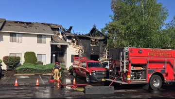 Woman critically injured after oxygen tanks explode in Salem fire