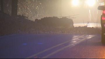 Raw: Landslide closes Oregon 224 near Damascus