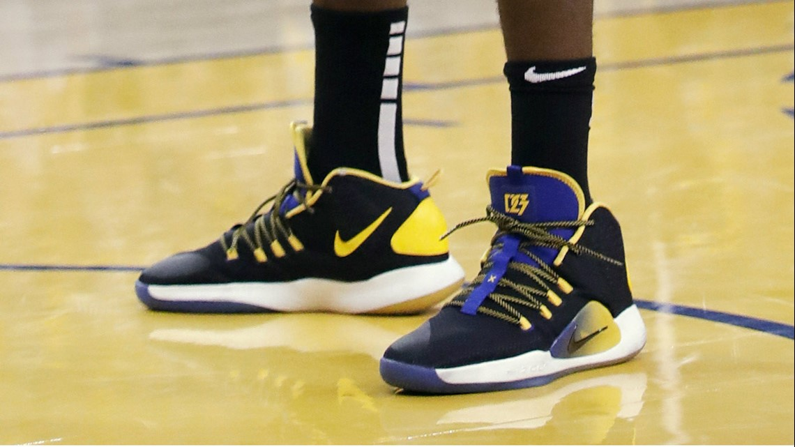 e9c3fb8ad4dd Draymond Green of the Golden State Warriors in the Nike Hyperdunk X.