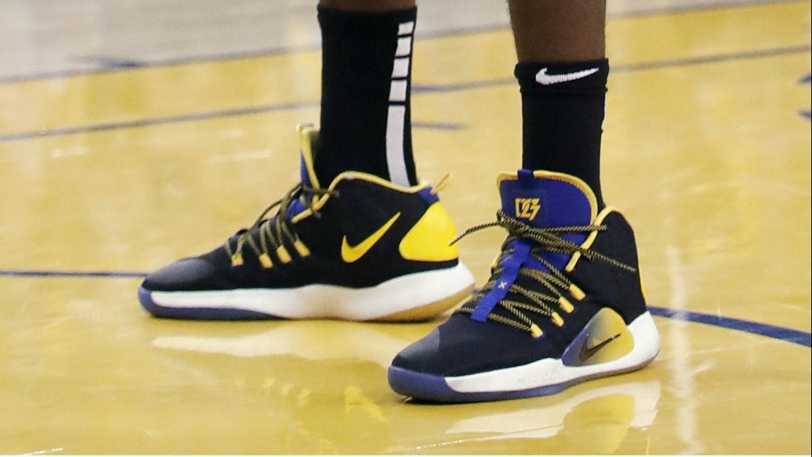 25837d97599 Draymond Green of the Golden State Warriors in the Nike Hyperdunk X.