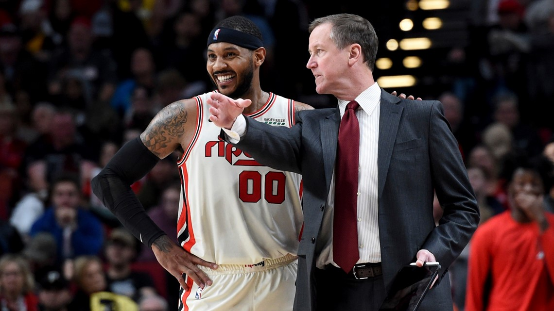 After impressive start, Blazers reportedly make Melo's contract guaranteed for rest of the season