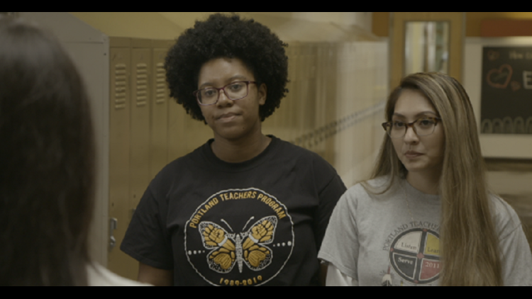 Current PTP students Unique Robinson and Emily Nguyen are currently student teachers at Woodlawn.