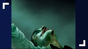 First movie poster of Joaquin Phoenix as the Joker looks dramatic