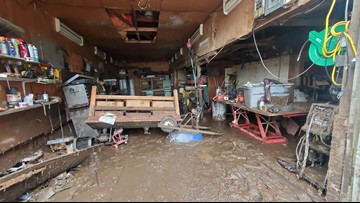 'I got three inches of water in my lower living room. It was three feet yesterday'