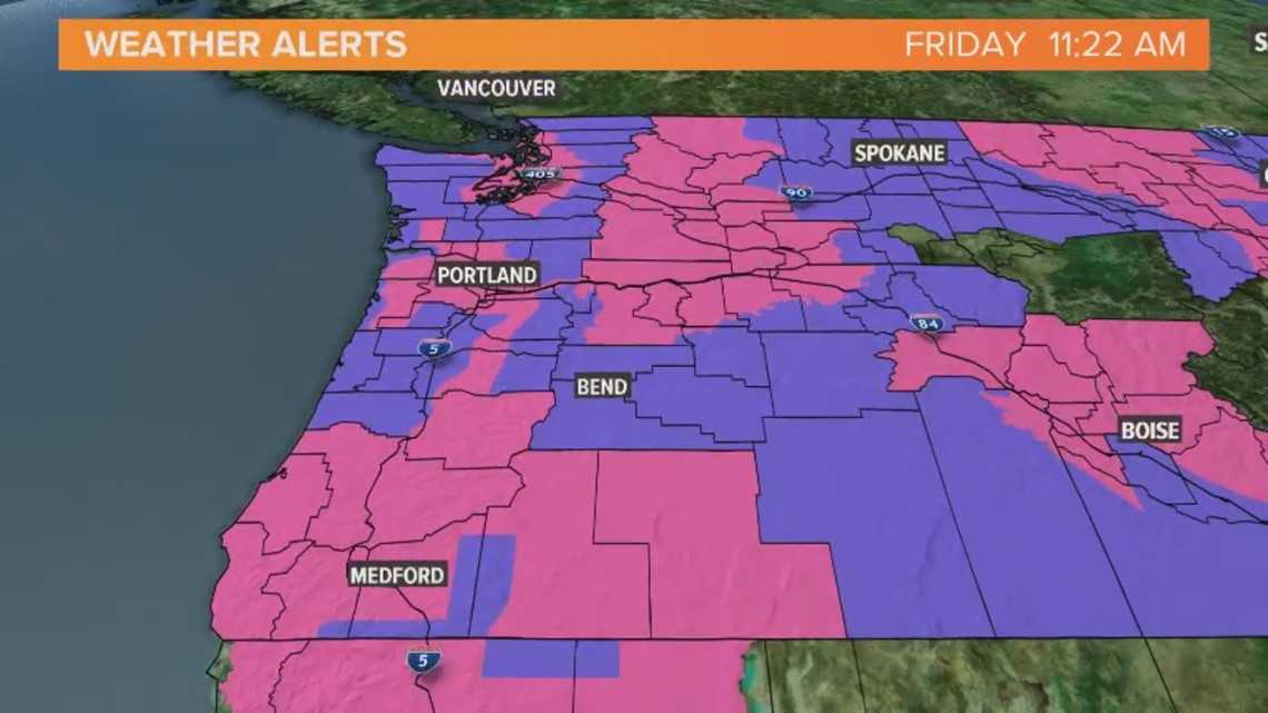 Timeline: When and how much snow could hit Portland