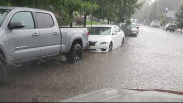 Heavy rains flood school, streets in Washington County